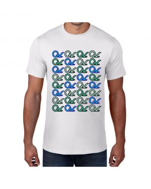 Good Vibes Multi Colored GV Layout White T-shirt