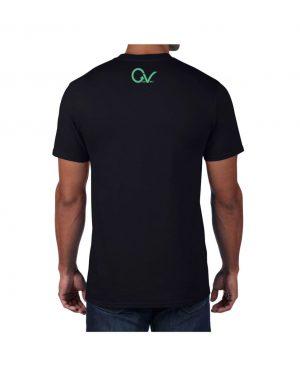 Good Vibes Multi Colored GV Layout Black T-shirt