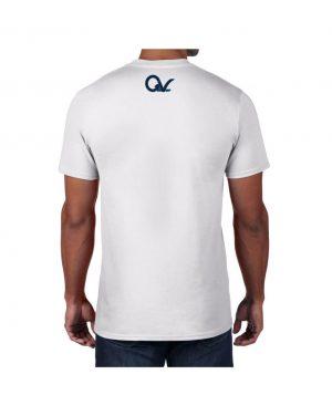 Good Vibes Blue Black Checker White T-shirt