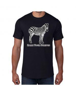 Good Vibes Earn Your Stripes Black T-shirt