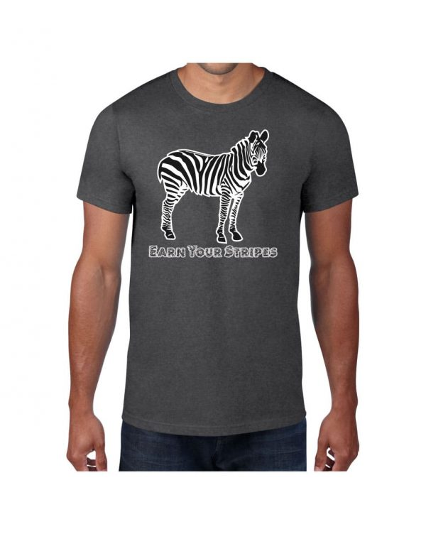 Good Vibes Earn Your Stripes Gray T-shirt