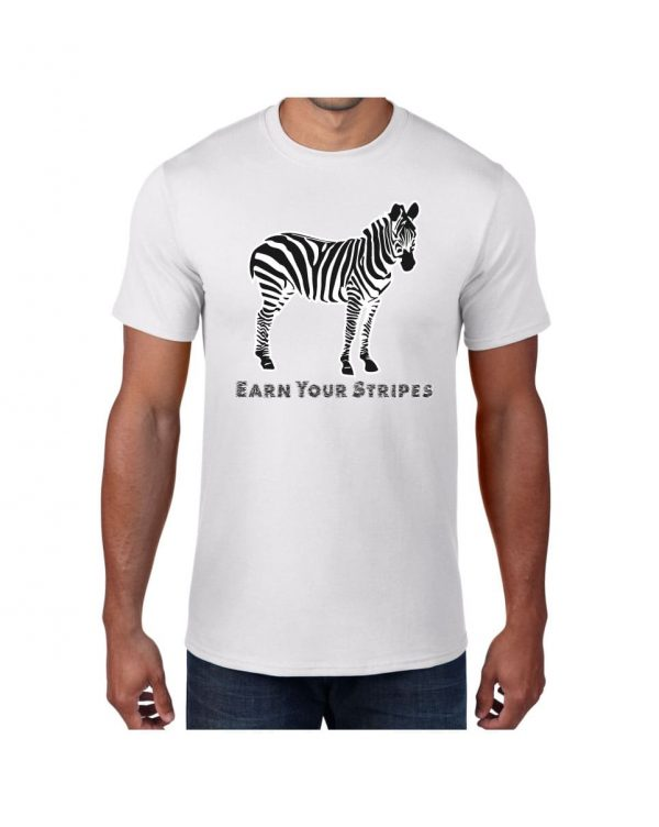 Good Vibes Earn Your Stripes White T-shirt