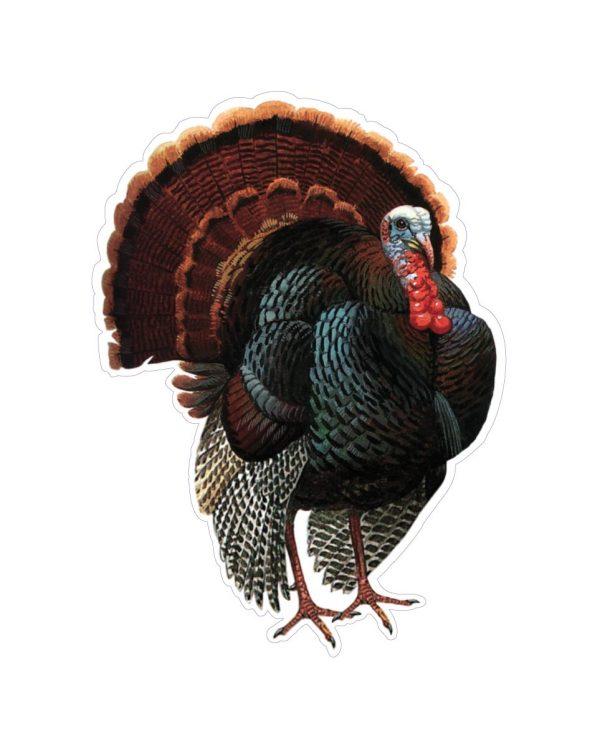 """Turkey Magnet or Sticker for Indoor or Outdoor Use 7"""" x 5"""""""