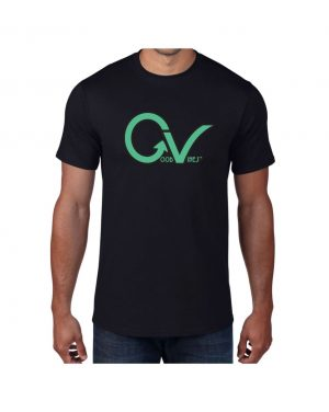 Good Vibes Dark Teal Black T-shirt