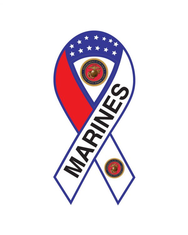 """Marines Magnet or Sticker for Indoor or Outdoor Use 8"""" x 4"""""""
