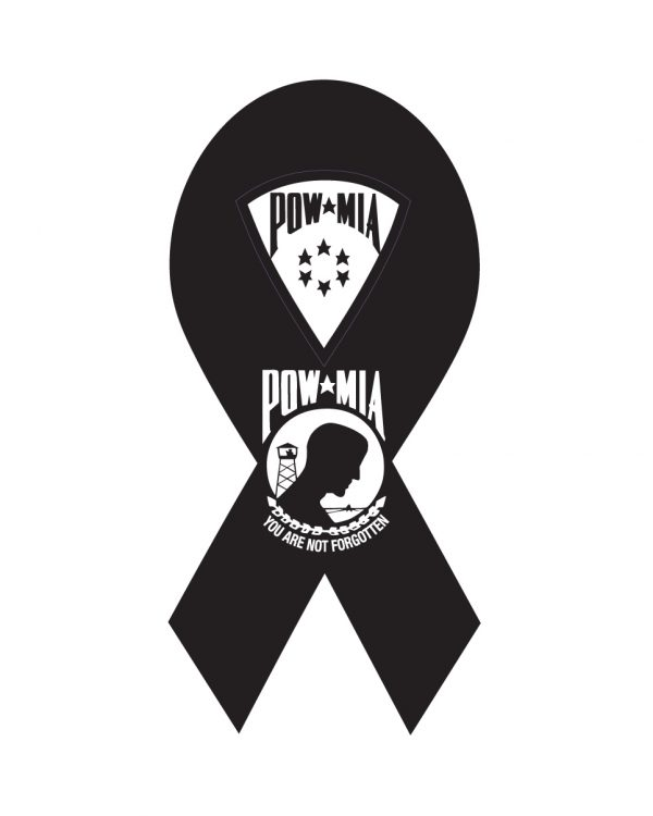 "POW Magnet or Sticker for Indoor or Outdoor Use 8"" x 4"""