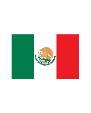 """Mexican Flag Magnet or Sticker for Indoor or Outdoor Use 6.5"""" x 4.5"""""""