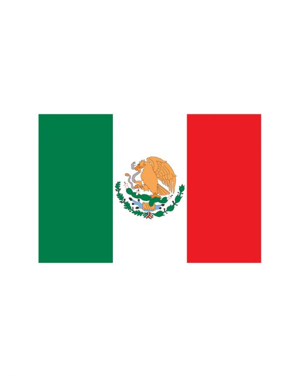 "Mexican Flag Magnet or Sticker for Indoor or Outdoor Use 6.5"" x 4.5"""