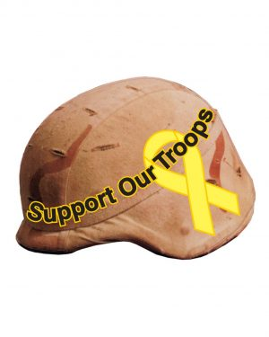 "Helmet Support Troops Magnet or Sticker for Indoor or Outdoor Use 6"" x 5"""
