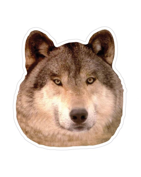 """Wolf Magnet or Sticker for Indoor or Outdoor Use 5.5"""" x 6"""""""