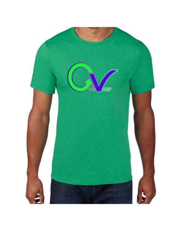 Good Vibes Green Purple Logo Green T-shirt