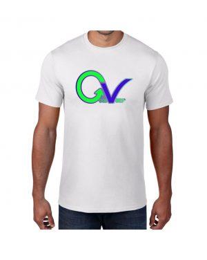 Good Vibes Green Purple Logo White T-shirt
