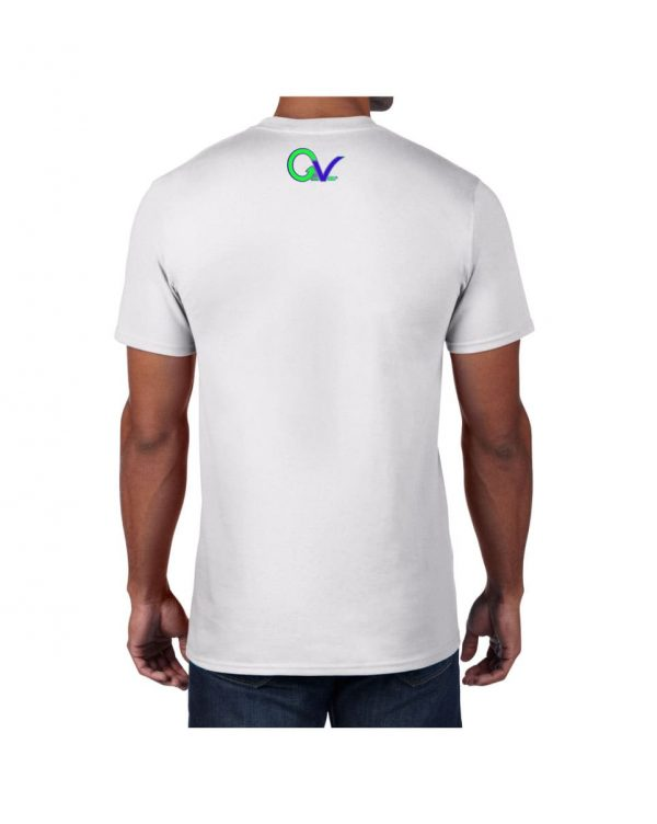 Good Vibes Green Purple Logo White T-shirt