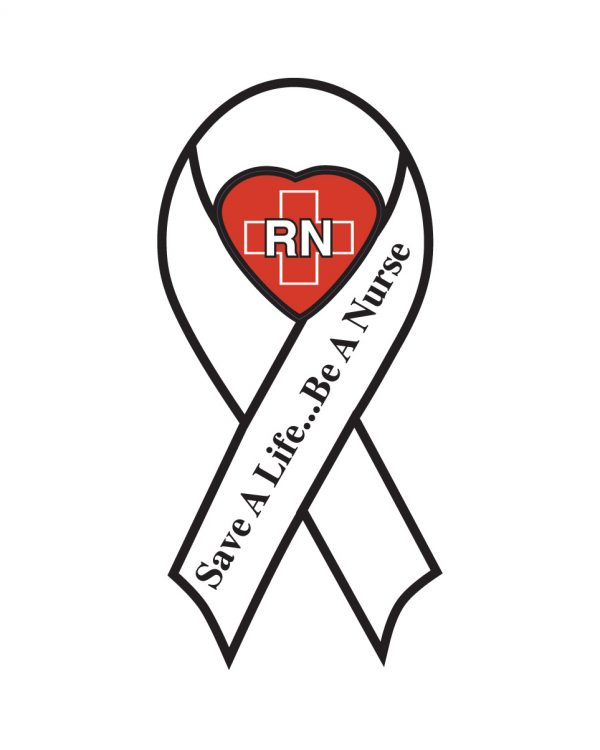"""Save a Life Be a Nurse Magnet or Sticker for Indoor or Outdoor Use 8"""" x 4"""""""