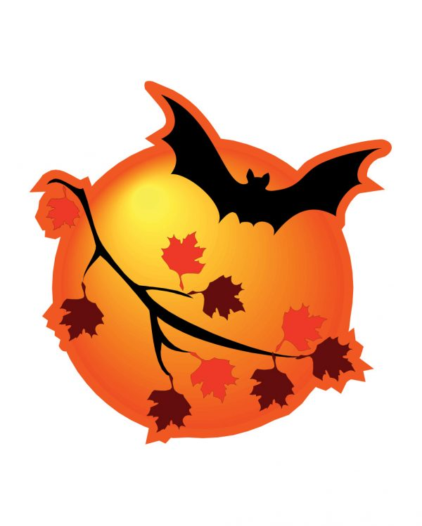 "Halloween Bat Magnet or Sticker for Indoor or Outdoor Use 5"" x 5"""