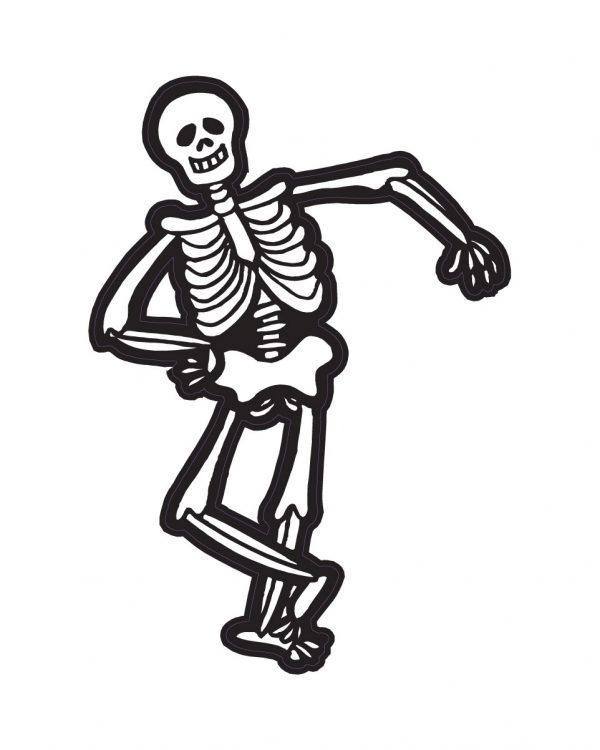 "Halloween Skeleton Magnet or Sticker for Indoor or Outdoor Use 4.5"" 6.5"""