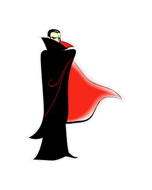 "Dracula Magnet or Sticker for Indoor or Outdoor Use 5"" x 6.5"""