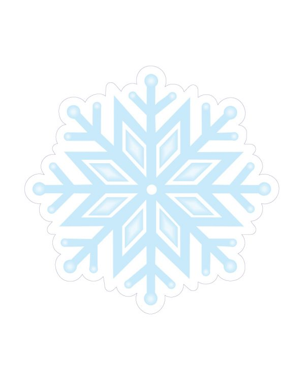 """Snowflake Magnet or Sticker for Indoor or Outdoor Use 5.5"""" x 5.5"""""""