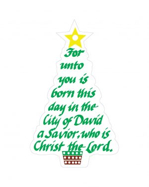 "Christmas Tree Magnet or Sticker for Indoor or Outdoor Use 3.5"" x 6"""