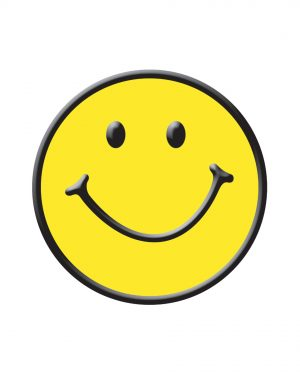"Smiley Face Magnet or Sticker for Indoor or Outdoor Use 6"" x 6"""