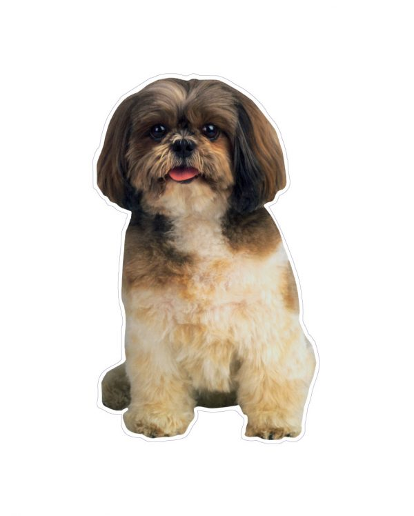 "Shih tzu Magnet or Sticker for Indoor or Outdoor Use 4"" x 7"""