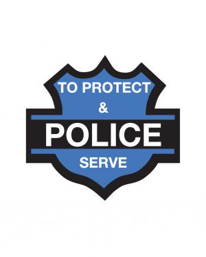 "Police Magnet or Sticker for Indoor or Outdoor Use 5.5"" x 5"""