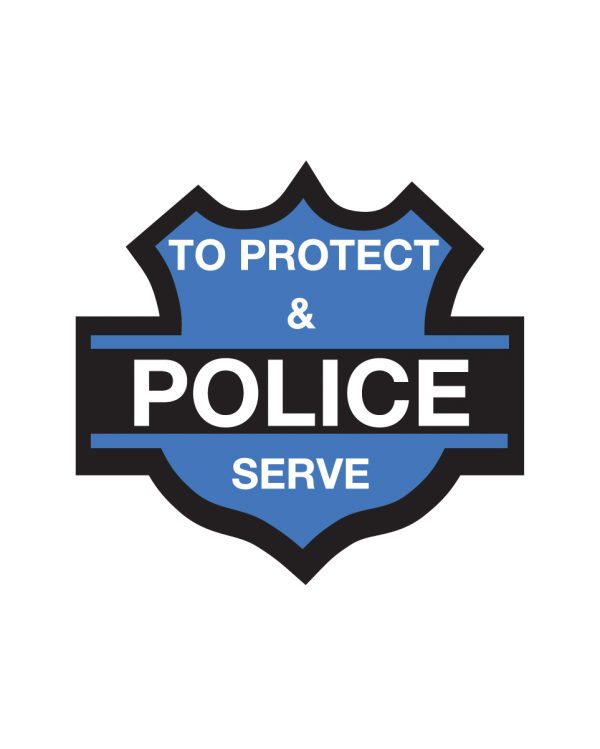 """Police Magnet or Sticker for Indoor or Outdoor Use 5.5"""" x 5"""""""