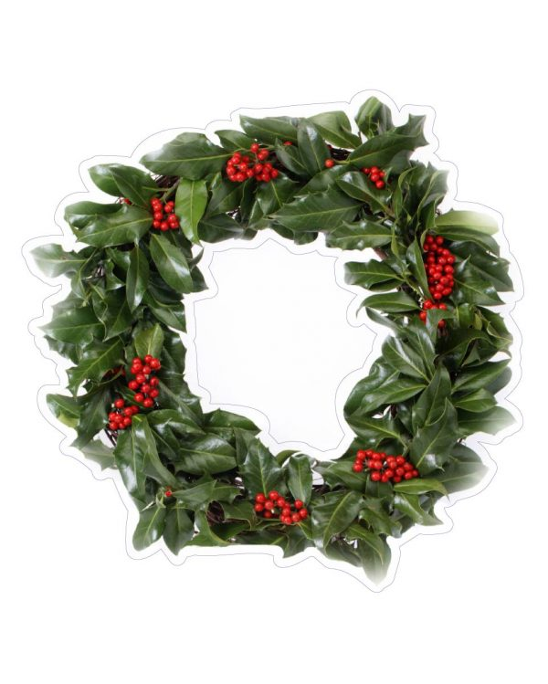 "Wreath Magnet or Sticker for Indoor or Outdoor Use 6"" x 6"""