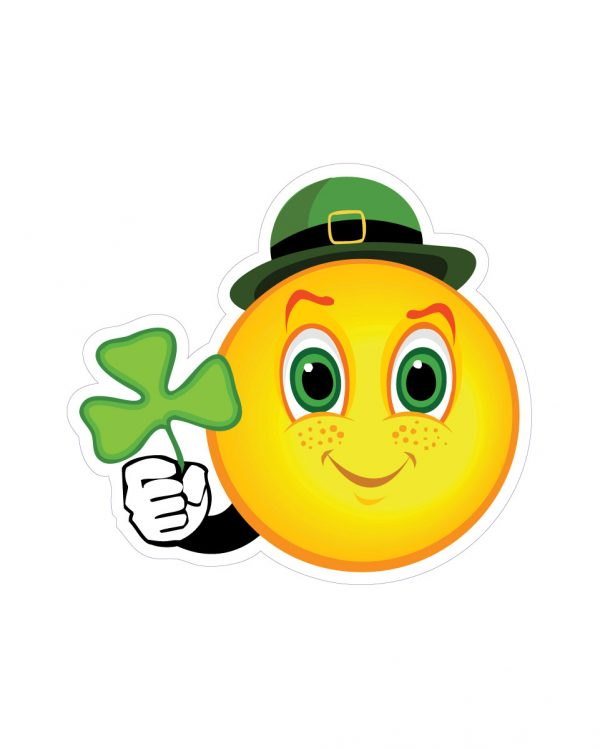 """St Pats Day Magnet or Sticker for Indoor or Outdoor Use 4.5"""" x 4"""""""