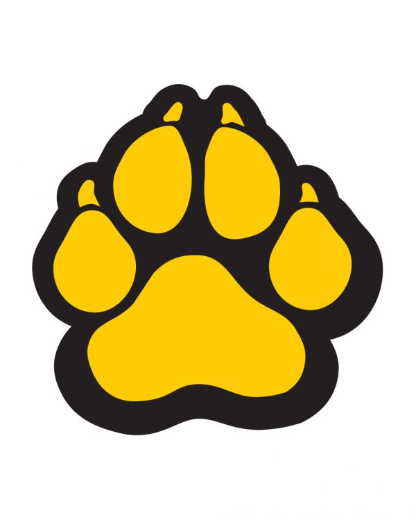 """Panther Paw Magnet or Sticker for Indoor or Outdoor Use 5"""" x 5"""""""