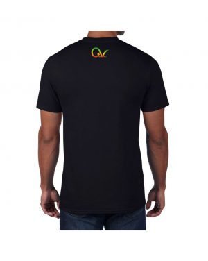 Good Vibes Rastafarian Lion GV Black T-shirt