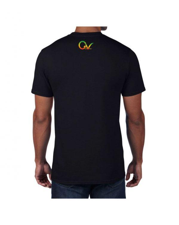 Good Vibes Rastafarian Lion GV Black T-shirt