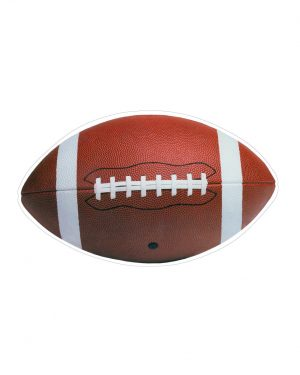 """Football Magnet or Sticker for Indoor or Outdoor Use 7"""" x 4"""""""