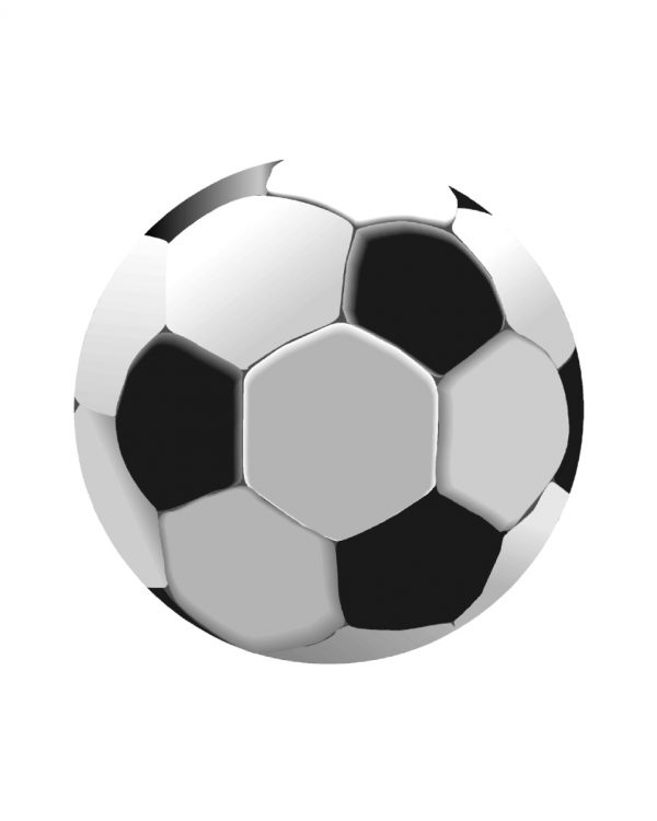 """Soccer Magnet or Sticker for Indoor or Outdoor Use 5"""" x 5"""""""