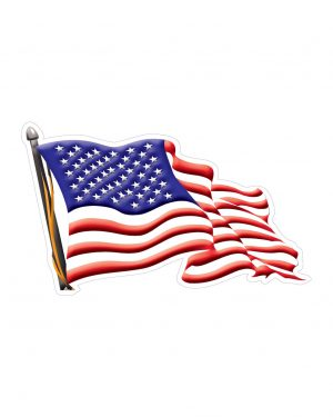 """USA American Flag Right Direction Magnet or Sticker for Indoor or Outdoor Use 7"""" x 4"""""""