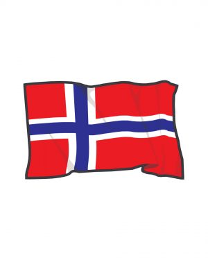 """Norway Flag Magnet or Sticker for Indoor or Outdoor Use 7"""" x 4"""""""