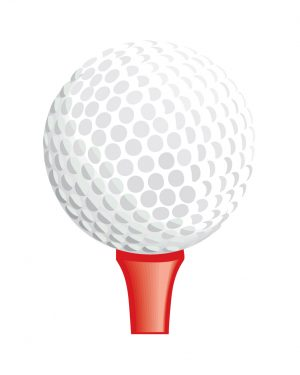 """Golf Tee Magnet or Sticker for Indoor or Outdoor Use 6.5"""" x 5"""""""