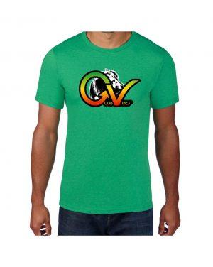 Good Vibes Rastafarian White Lion GV Green T-shirt