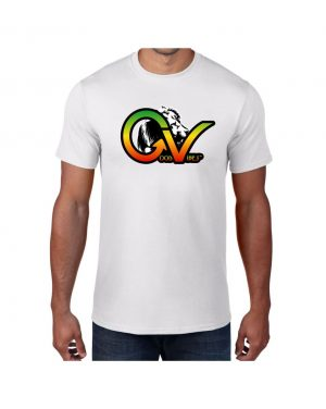 Good Vibes Rastafarian White Lion GV White T-shirt