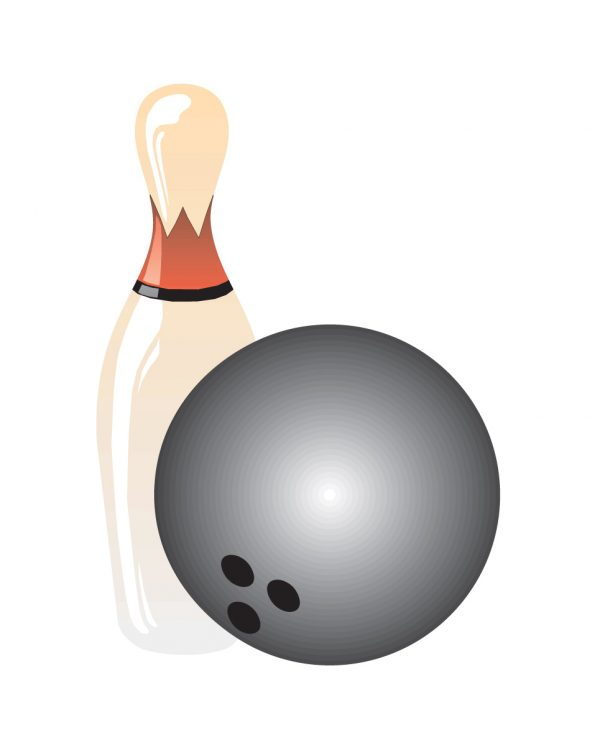 """Bowling Magnet or Sticker for Indoor or Outdoor Use 6.5"""" x 4.5"""""""