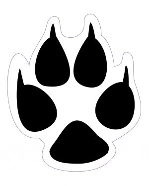 "Dog Track Magnet or Sticker for Indoor or Outdoor Use 1.8"" x 1.5"""