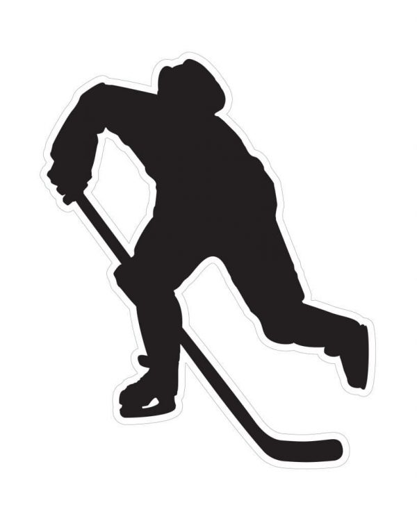 """Hockey Magnet or Sticker for Indoor or Outdoor Use 5"""" x 6"""""""