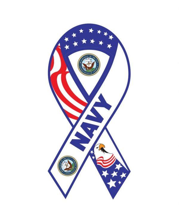 """Navy Magnet or Sticker for Indoor or Outdoor Use 8"""" x 4"""""""