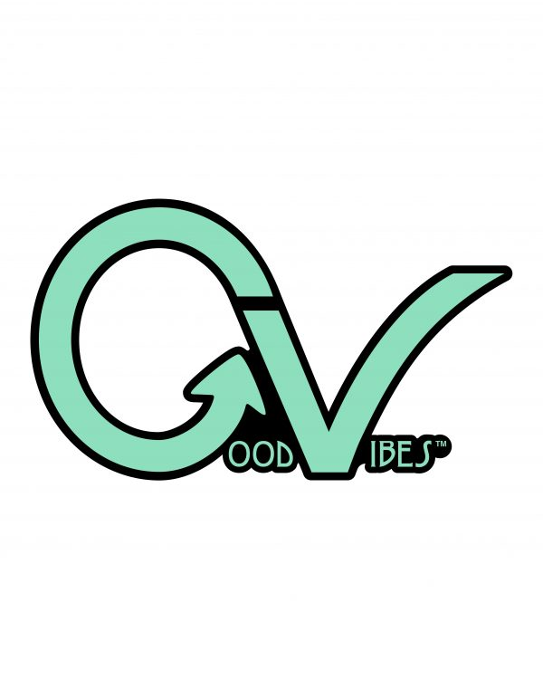 Good Vibes Teal GV Lighter Sticker for Indoor or Outdoor Use 3.45 x 2