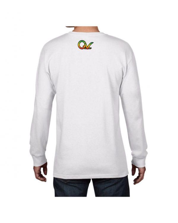 Good Vibes Rasta White Lion Logo White Long Sleeve Tshirt