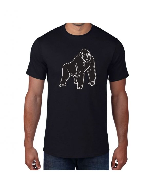 Good Vibes Black Gorilla Black T-shirt