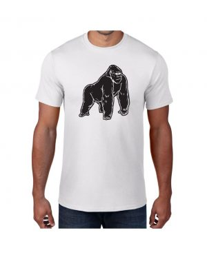 Good Vibes Black Gorilla White T-shirt