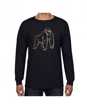 Good Vibes Black Gorilla Black Long Sleeve T-shirt