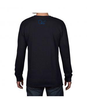 Good Vibes Blue Black Checker Black Long Sleeve T-shirt
