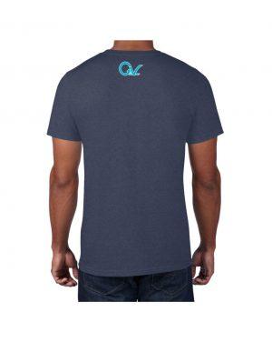 Good Vibes Blue Light Green Checker Blue T-shirt